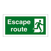 Escape Route Running Man Right sign