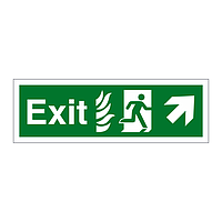 Exit with Flames symbol Arrow Up Right sign