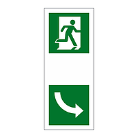 Escape Door Opening Anti clockwise sign
