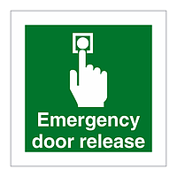 Emergency Door Release sign