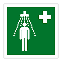 Emergency Shower symbol sign