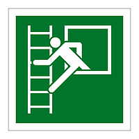 Emergency Window Escape Ladder Left sign