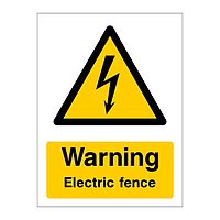 Warning Electric fence sign