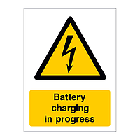 Battery charging in progress sign