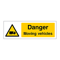 Danger Moving vehicles sign