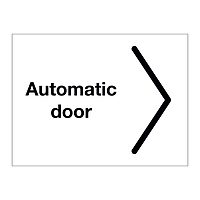 Automatic door Arrow Right sign