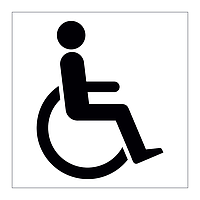 Disabled toilet symbol sign
