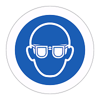 Eye Protection symbol (Sheet of 18 Labels)