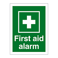 First Aid Alarm sign