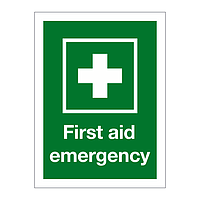 First Aid Emergency sign
