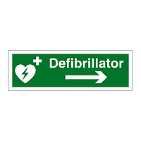 Defibrillator arrow right sign