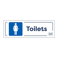 Site Safe - Female Toilets sign