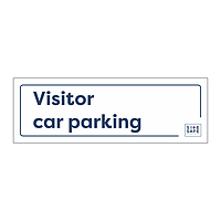 Site Safe - Visitor car parking sign