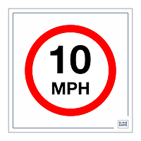 Site Safe - 10 MPH Speed Limit sign