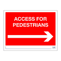 Site Safe - Access for Pedestrians Arrow right sign