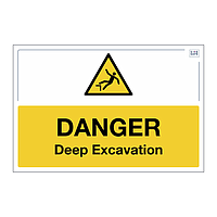 Site Safe - Danger Deep Excavation sign