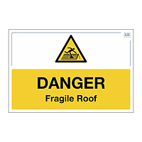 Site Safe - Danger Fragile Roof sign