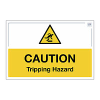 Site Safe - Caution Tripping Hazard sign