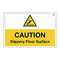 Site Safe - Caution Slippery Floor Surface sign