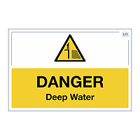 Site Safe - Danger Deep Water sign