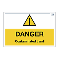 Site Safe - Danger Contaminated Land sign