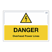 Site Safe - Danger Overhead Power Lines sign