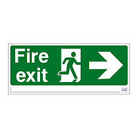 Site Safe - Fire Exit Running Man Arrow Right sign