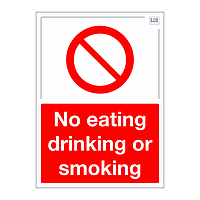 Site Safe - No eating drinking or smoking sign