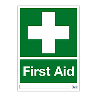 Site Safe - First Aid sign