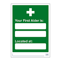 Site Safe - First Aider sign