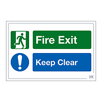Site Safe - Fire Exit Keep Clear sign