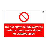 Site Safe - Do not allow muddy water sign