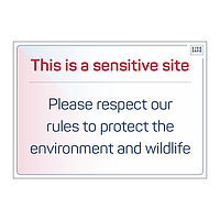 Site Safe - Please respect our rules to protect environment sign