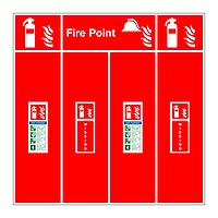 ABC Powder fire extinguisher double location board