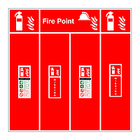 Carbon Dioxide fire extinguisher double location board