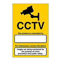 CCTV scheme is being controlled by sign
