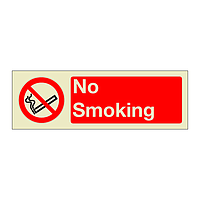 No Smoking with Text (Marine Sign)