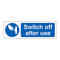 Switch off after use sign