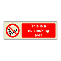This is a No Smoking Area (Marine Sign)