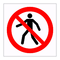 No pedestrians symbol sign