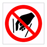 Do not reach in symbol sign