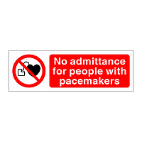No admittance for people with pacemakers sign