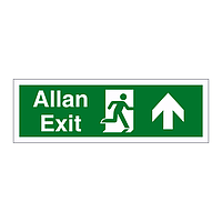 Exit arrow up English/Welsh sign