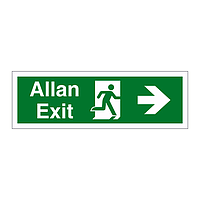 Exit arrow right English/Welsh sign