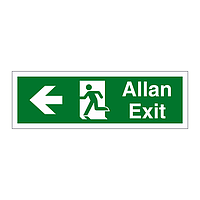 Exit arrow left English/Welsh sign
