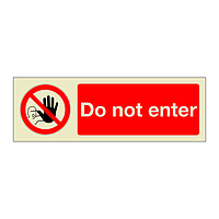 Do Not Enter (Marine Sign)