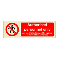 Authorised Personnel Only (Marine Sign)