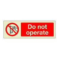 Do Not Operate (Marine Sign)
