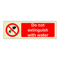 Do Not Extinguish with Water (Marine Sign)