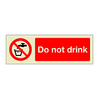 Do Not Drink  (Marine Sign)